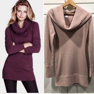 H&M Light Pink long sweater Cowel Neck